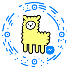 Simply scan this code using the Facebook Messenger app
